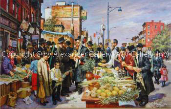 Shopping for Sukkot by Itshak Holtz